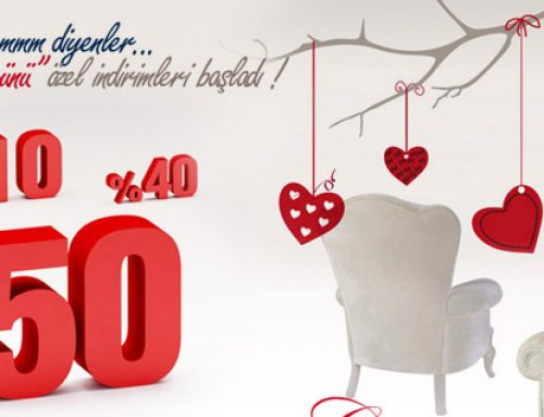 Evimi Seviyorum Diyenler, Sevgililer Günü Özel İndirimleri Turkmobilya.com'da Başladı !