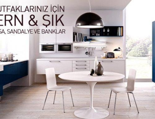Mutfaklarınız İçin Metal Ayaklı Masa, Sandalye ve Banklar